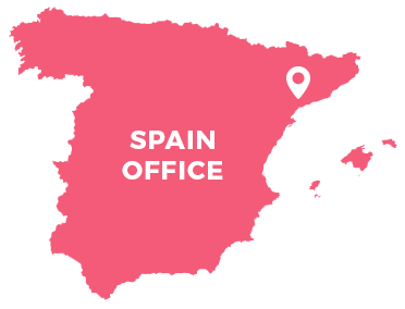 Landkarte, Spanien, Spain office,