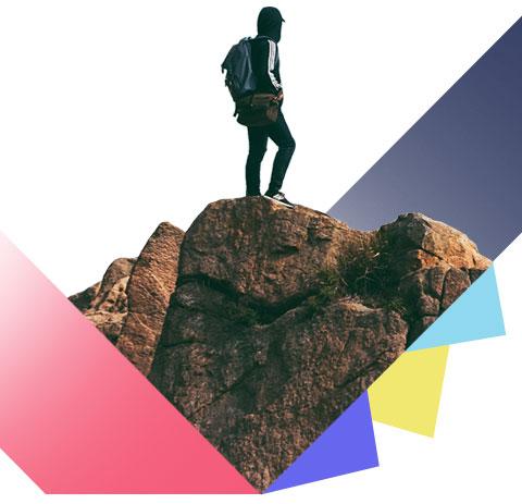 Bergsteiger, Stein, Gipfel