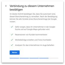 Google My Business - Identität bestätigen