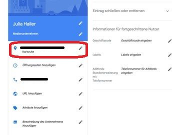 Google My Business - Eintrag anpassen -