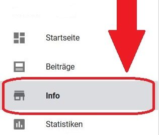 Screenshot Google My Business: Services