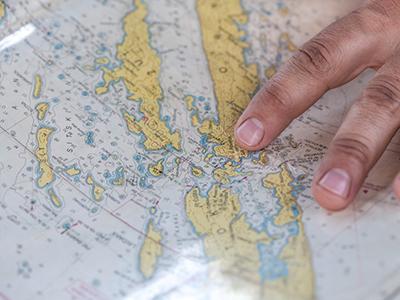 Landkarte, Finger