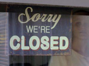 Geschlossen, closed