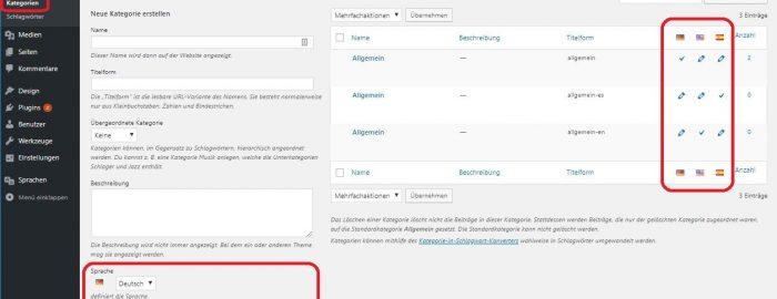 Multilanguage, Website