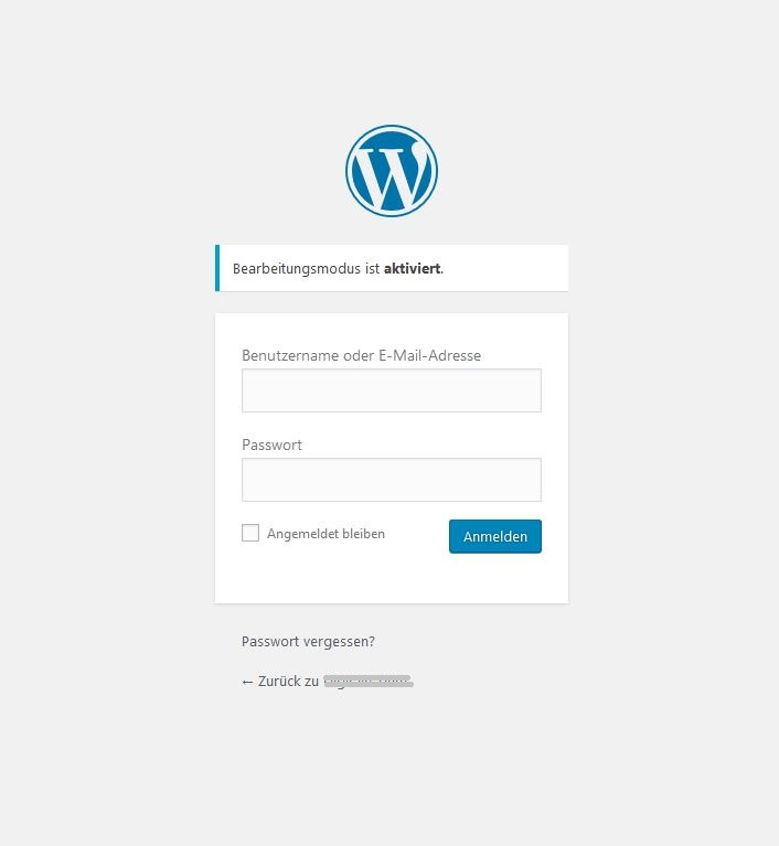 Wordpress, Login