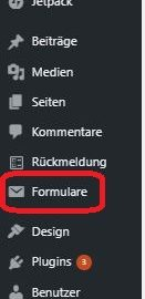 Wordpress, Kontaktformular